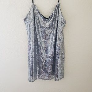Wild Fable Strappy Sequin Silver Dress L